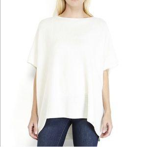 Vince Poncho Pulli Wool Cashmere Cream XS S